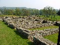 Chesters Roman Fort - View of the Barrack Blocks - larger picture opens in new window