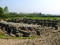 Corbridge Roman Site - Remains of the Bath House - larger picture opens in new window