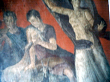 Pompey fresco- woman and child