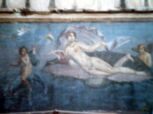 Fresco-woman on couch