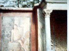 Pompeii- entrance with fresco