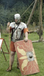 "Roman Legionary in ""lorica segmentata"" - larger image opens in new window"